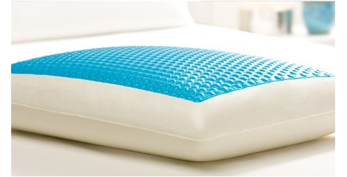 comfort revolution cerulean bubbles hydraluxe cooling gel bed pillow standard