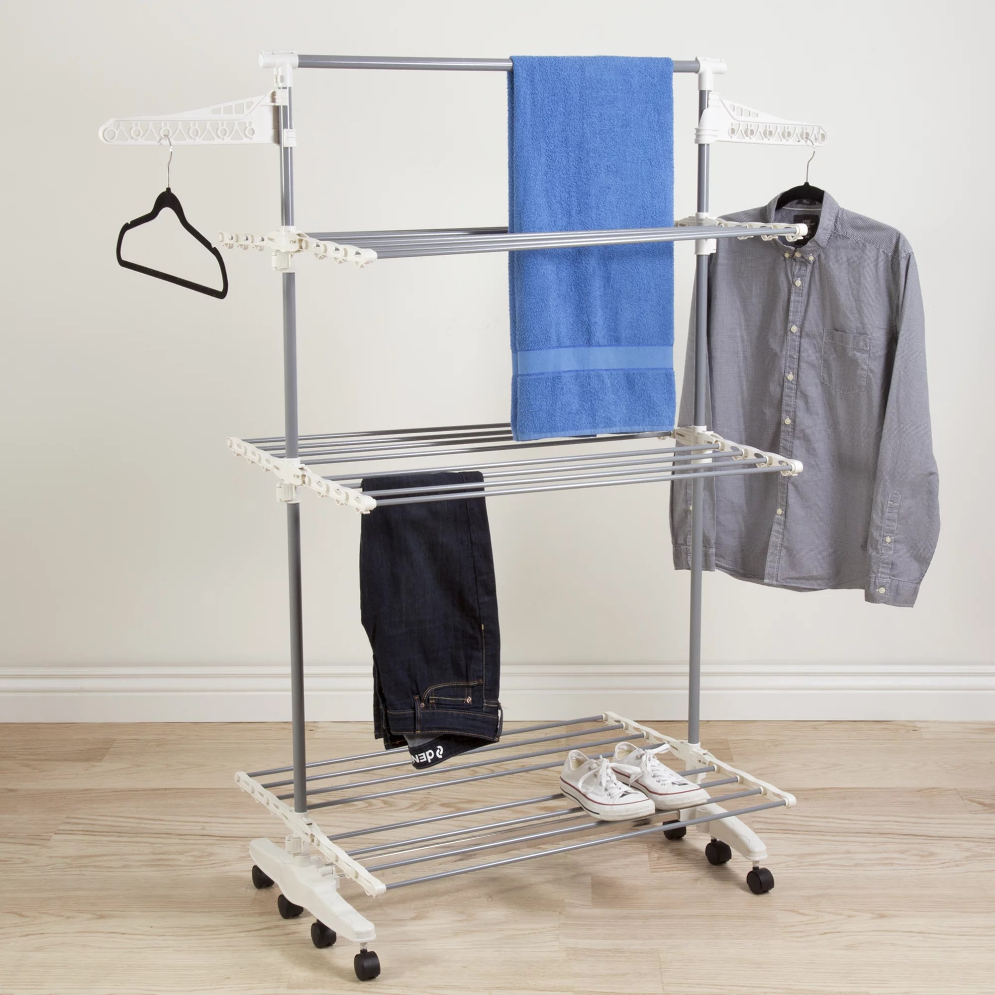 mainstay 6 arm adjustable drying rack