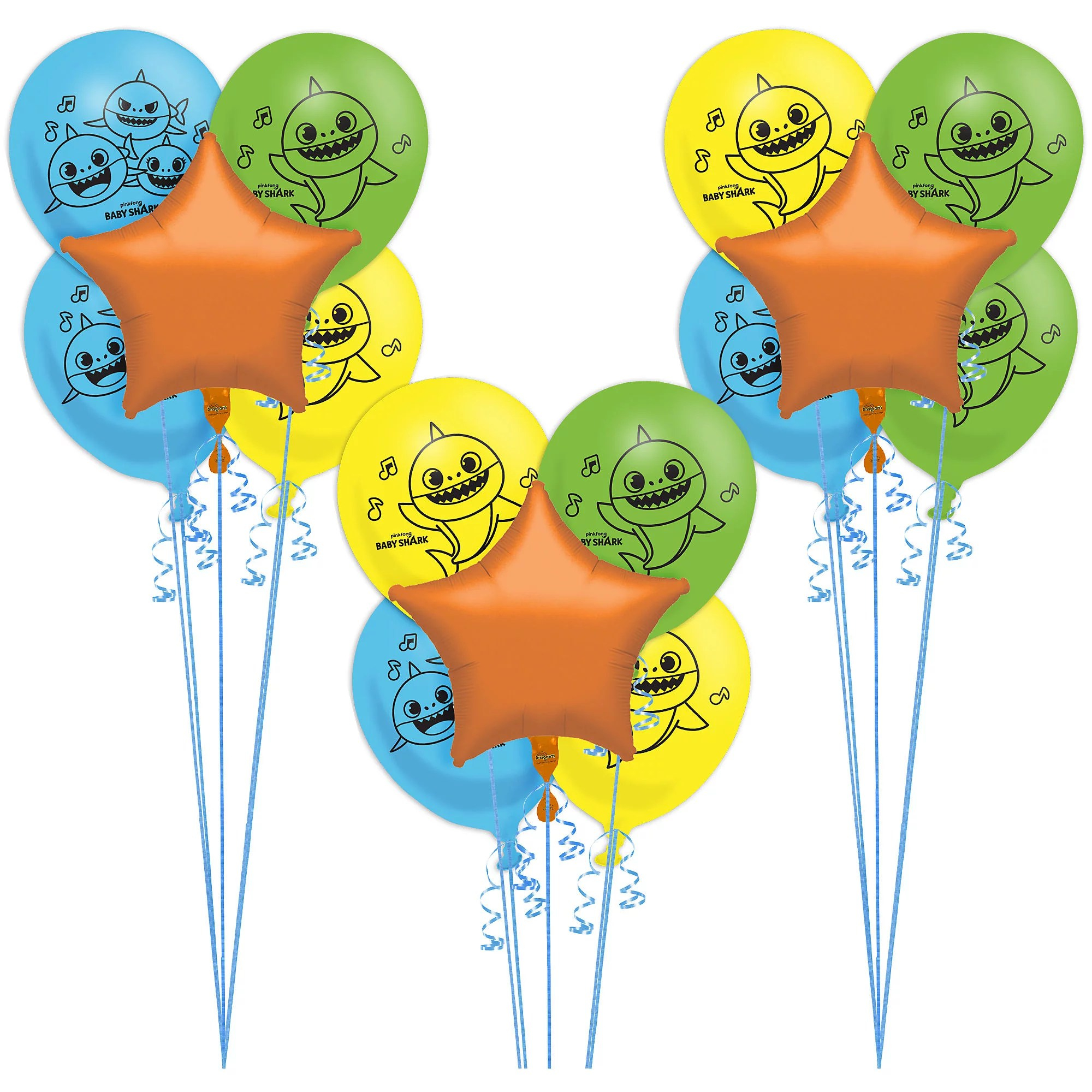 Party City Baby Shark Birthday Party Tableware Supplies Include Plates Napkins A Banner And Decorations Walmart Com Walmart Com