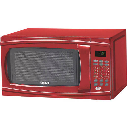 rca 1 1 cu ft microwave red