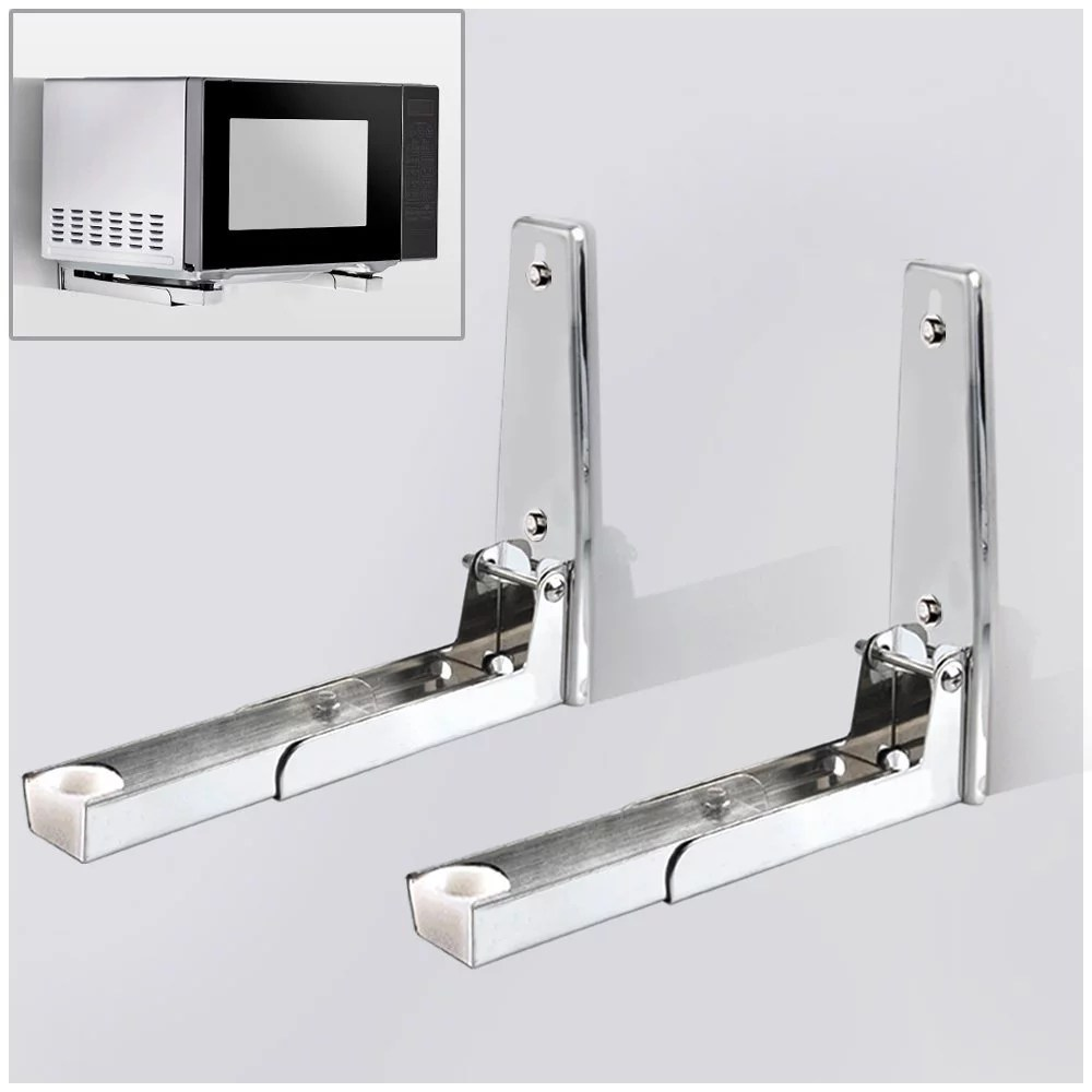 304 stainless steel microwave oven wall mount bracket retractable microwave wall stand shelf rack walmart com