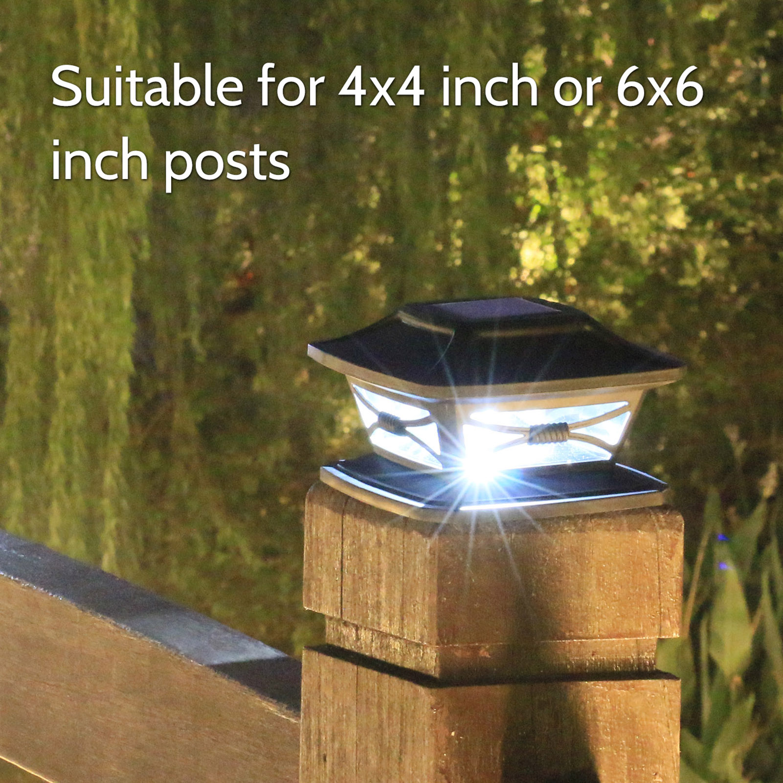 walmeck solar post lights garden landscape lamp ip44 water resistant outdoor post cap lights for fence deck patio fits 4x4 or 6x6 posts watercolour paper mishavig toys games