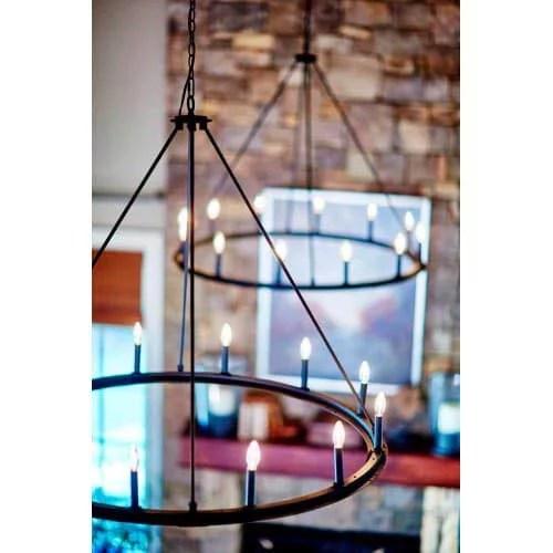capital lighting pearson black iron 12 light chandelier