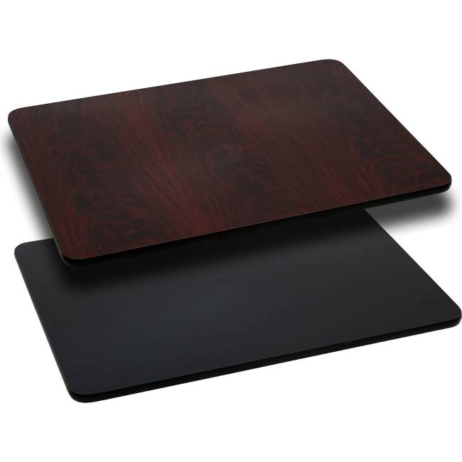 """Flash Furniture 24"""" x 30"""" Rectangular Table Top with Reversible Laminate Top, Multiple Colors"""