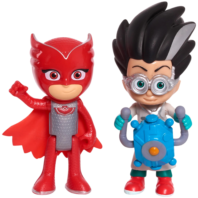 Pj Masks Hero Vs Villain 2 Pack Figure Set Owlette Romeo Walmart Com Walmart Com