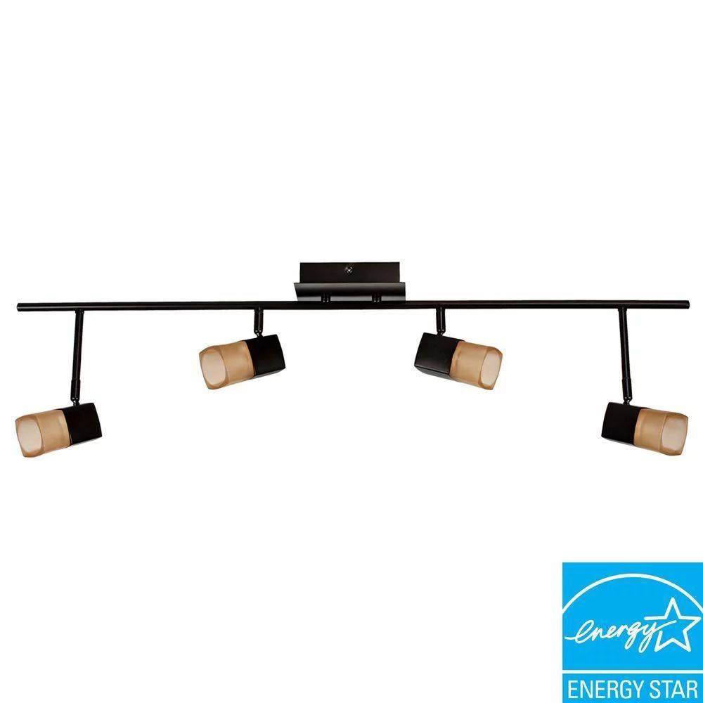 hampton bay vega 3 6 4 light oil rubbed bronze led track lighting new