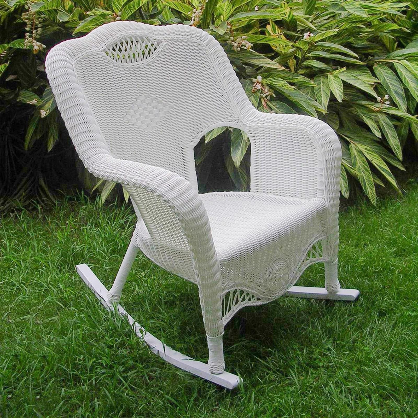 international caravan maui resin wicker outdoor rocking chair walmart com