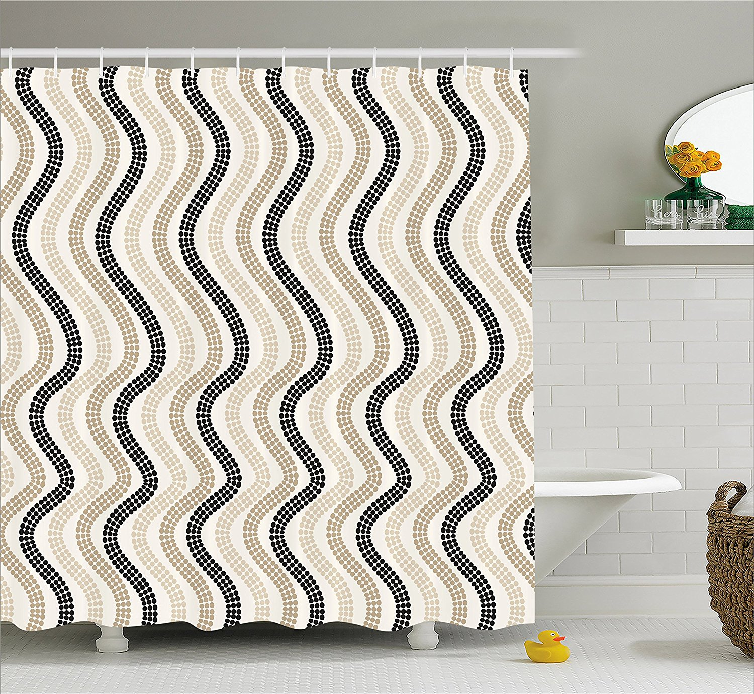 colorful abstract shower curtain fabric