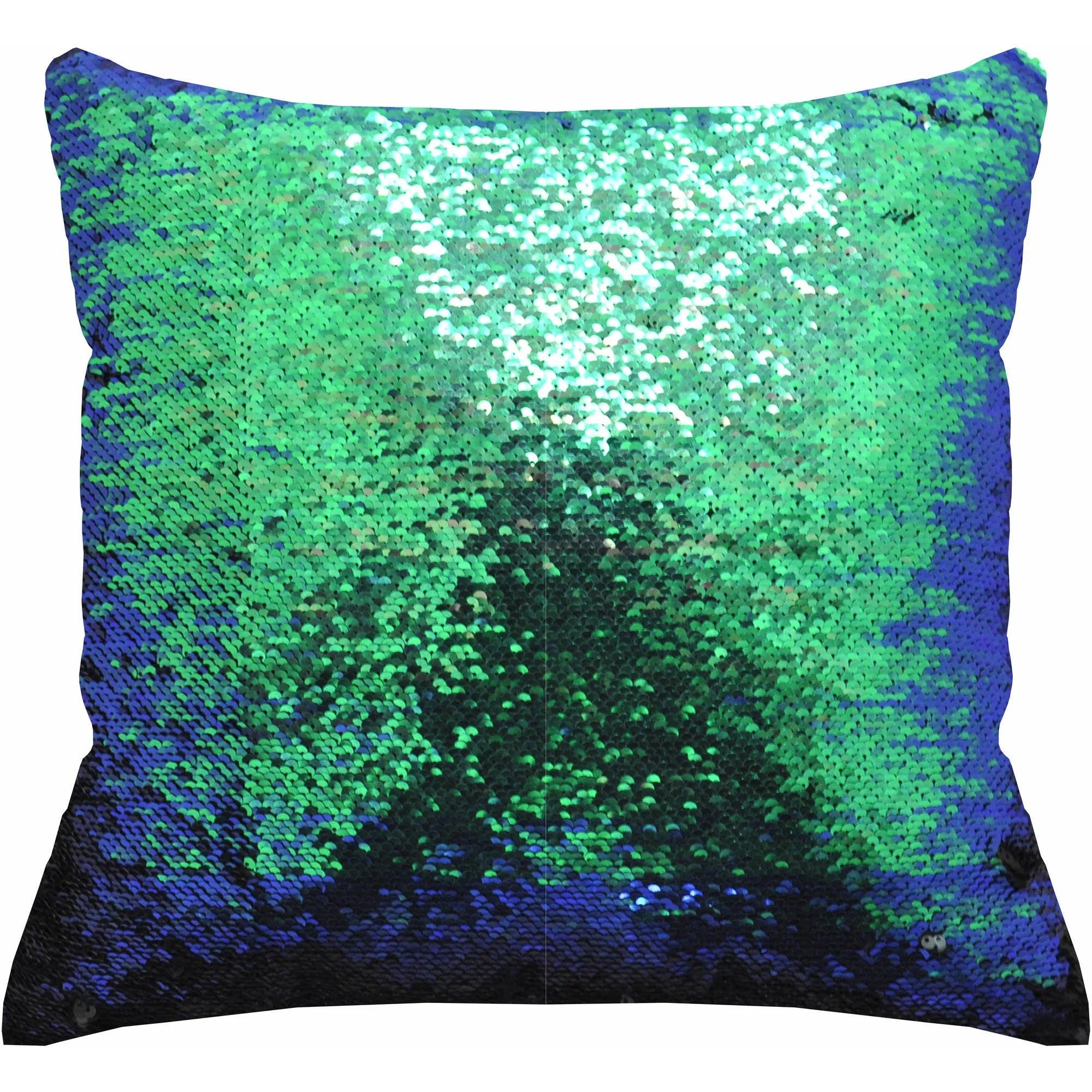 mainstays reversible 17 x 17 sequin sparkle pillow