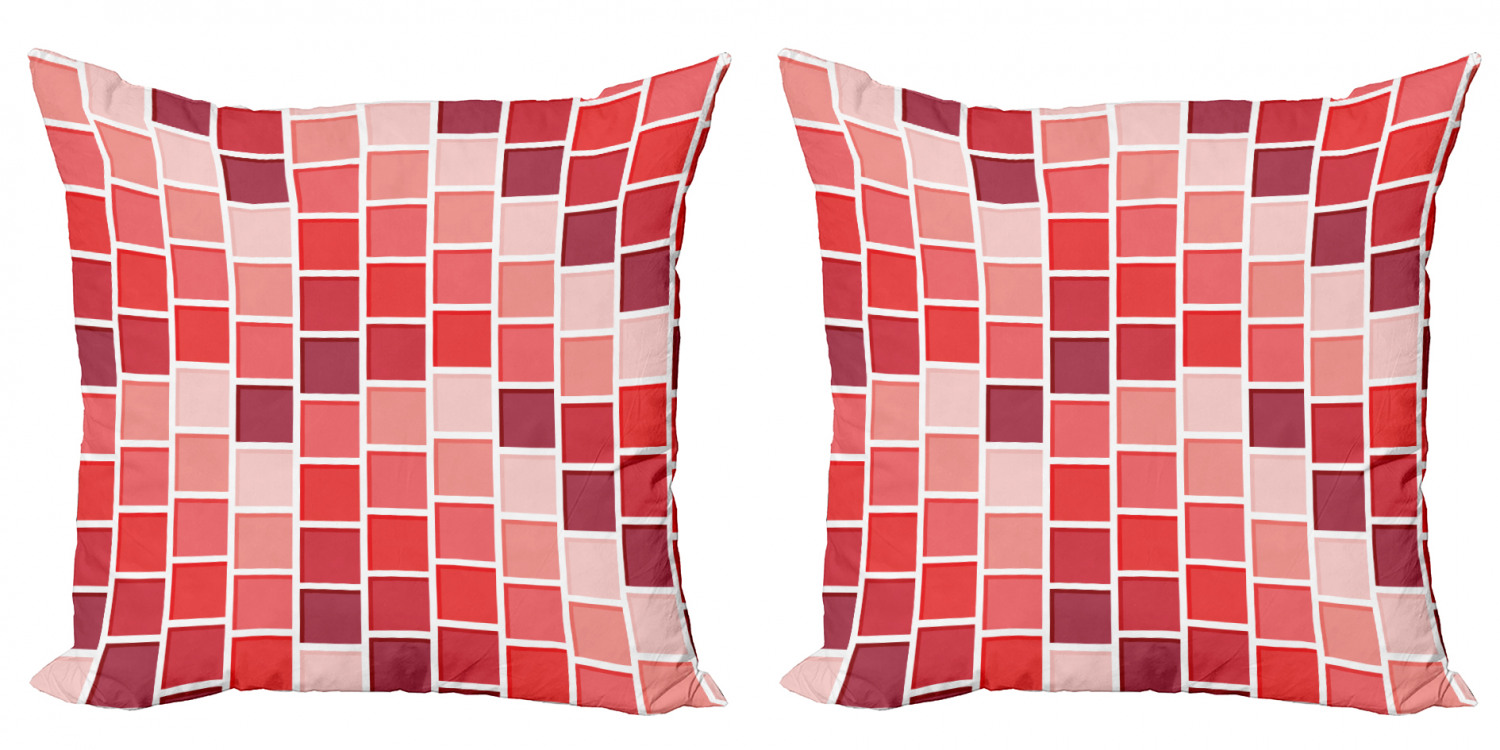 geometric throw pillow cushion cover pack of 2 tile rectangle square cube vertical lines geometrical shapes periodic zippered double side digital