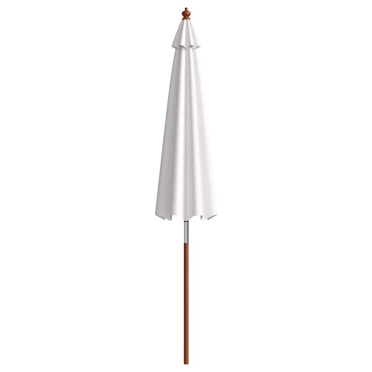 adjustable 9 wooden patio umbrella wood pole outdoor garden sun shade
