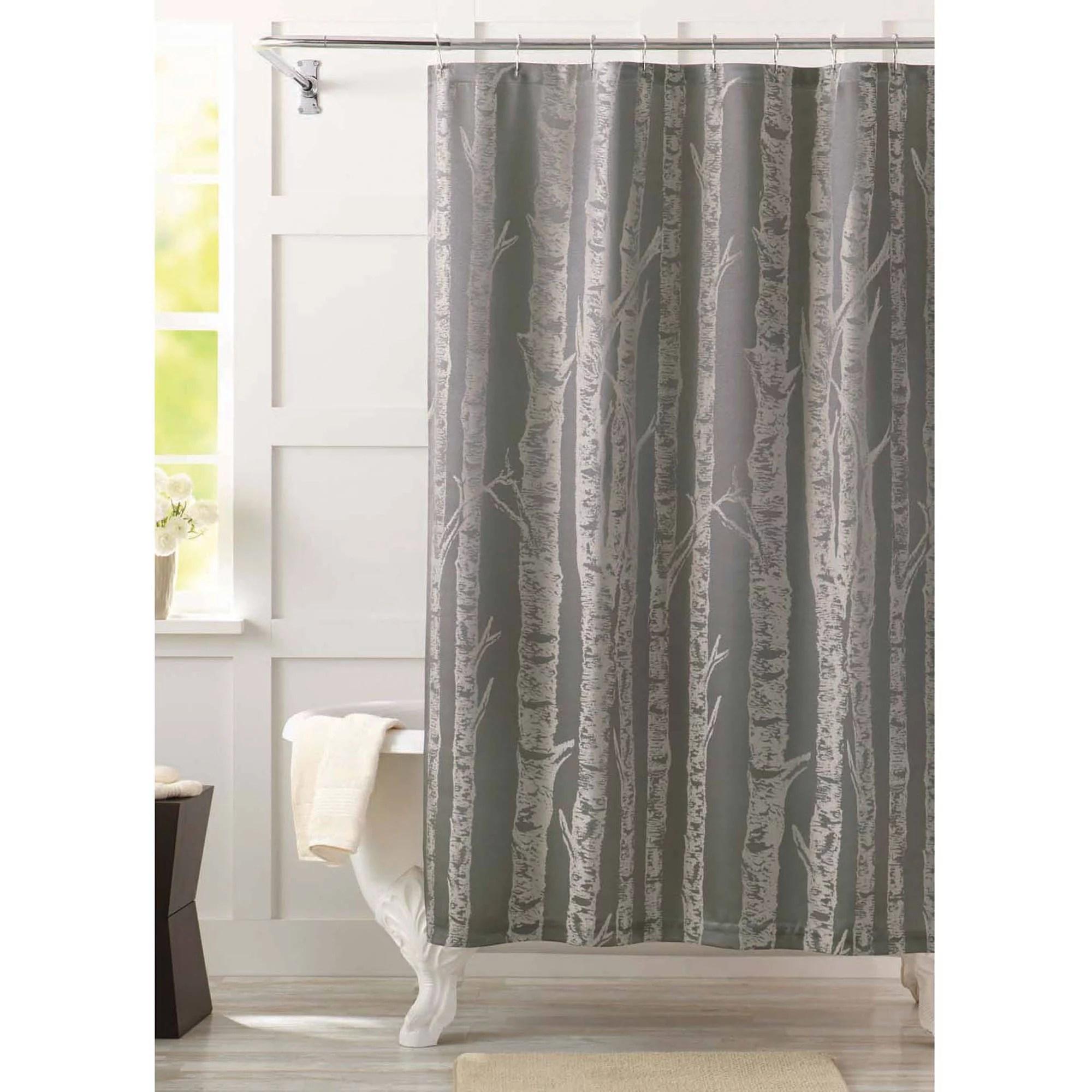 better homes gardens birch fabric shower curtain 1 each