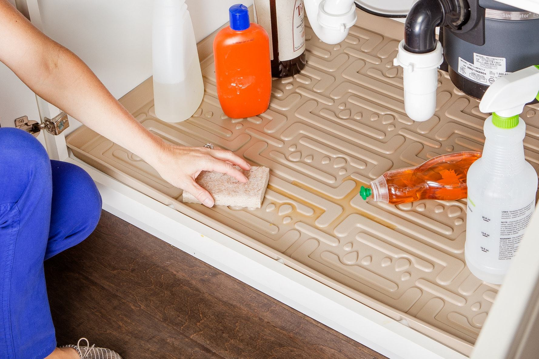 xtreme mats under sink kitchen cabinet mat 34 x 22 beige
