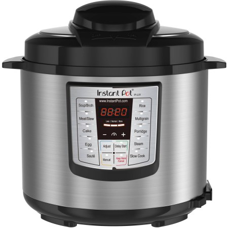 Instant Pot LUX60 6 Qt 6-in-1 Multi-Use Programmable Pressure Cooker, Slow Cooker, Rice Cooker, Sauté, Steamer, and Warmer