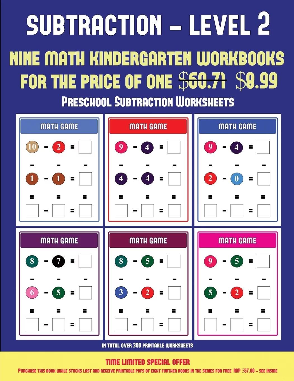 Preschool Subtraction Worksheets Preschool Subtraction
