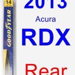 2013 Acura Rdx Rear Wiper Blade Rear Walmart Com Walmart Com