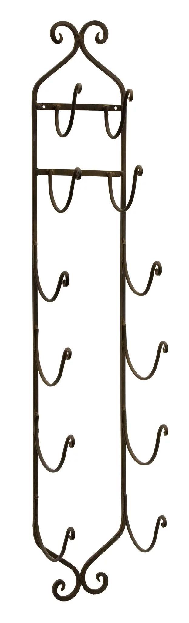 rustic towel wine rack