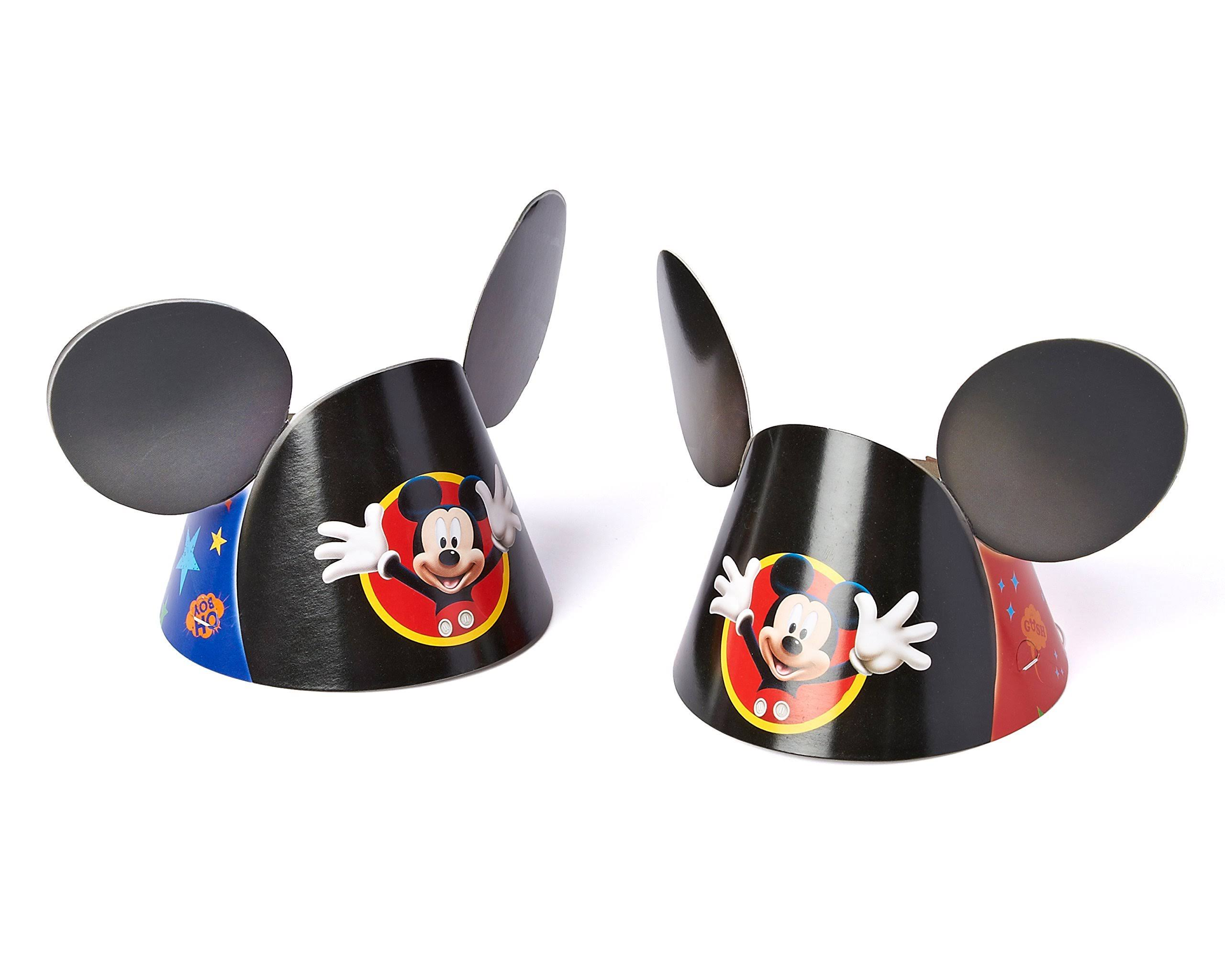 Mickey Mouse Clubhouse Small Mickey Ears Party Hat 4 5 Wide 8ct Walmart Com Walmart Com