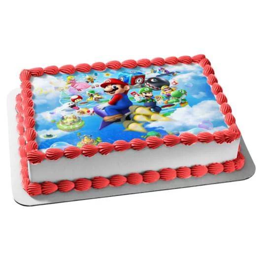 Super Mario Brothers Nintendo Luigi Yoshi Mario Party Edible Cake Topper Image Abpid03597 Walmart Com Walmart Com