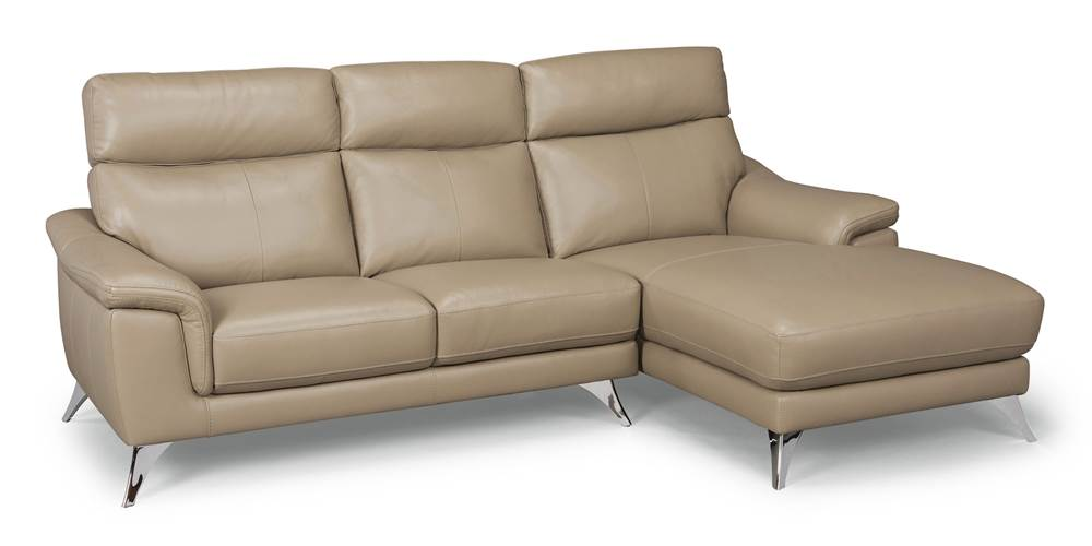 home styles by flexsteel moderno leather contemporary upholstered chaise sofa walmart com