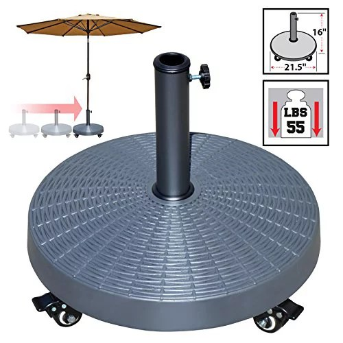 strong camel outdoor patio umbrella resin weight base stand deck parasol w wheels only base