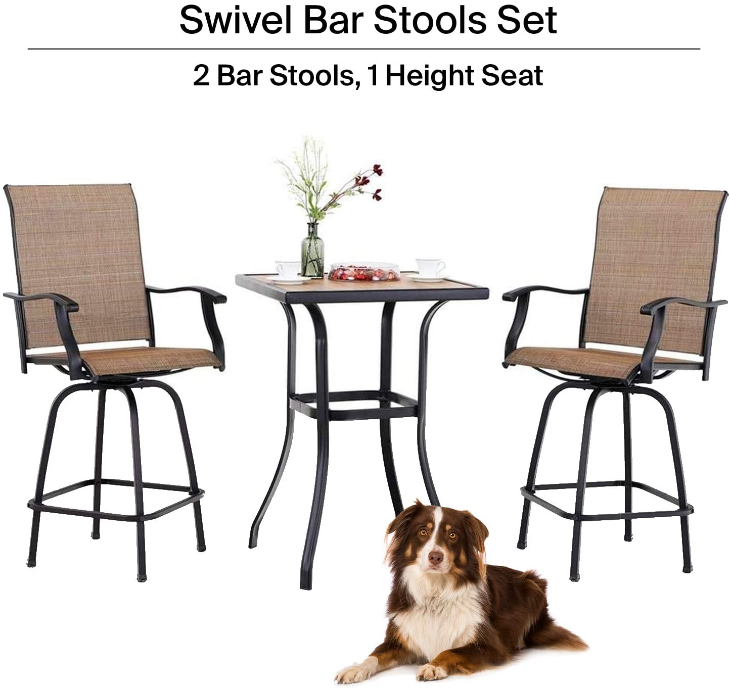 lucien outdoor bar high bistro set 3 piece patio set patio table and bar chairs