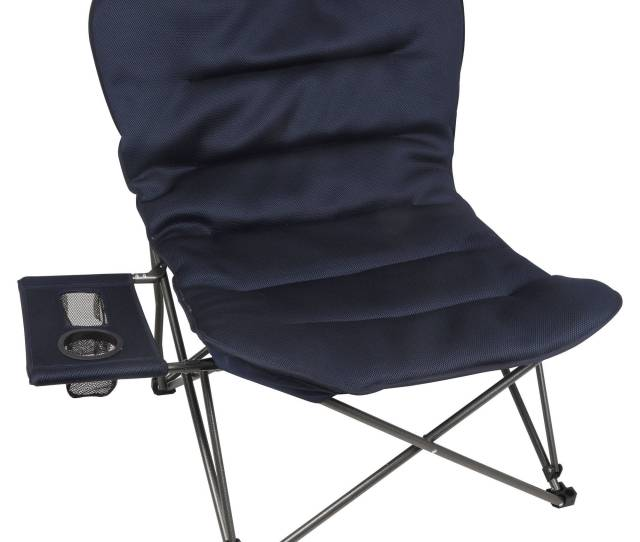 Ozark Trail Oversized Relax Plush Chair With Side Table Blue