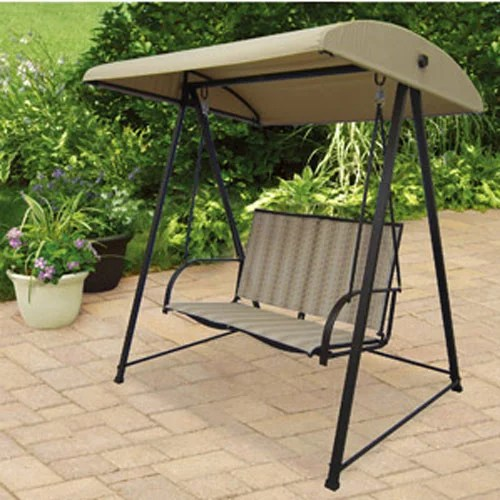 garden winds replacement canopy for 2 person swing beige color replacement canopy top only metal frame not included