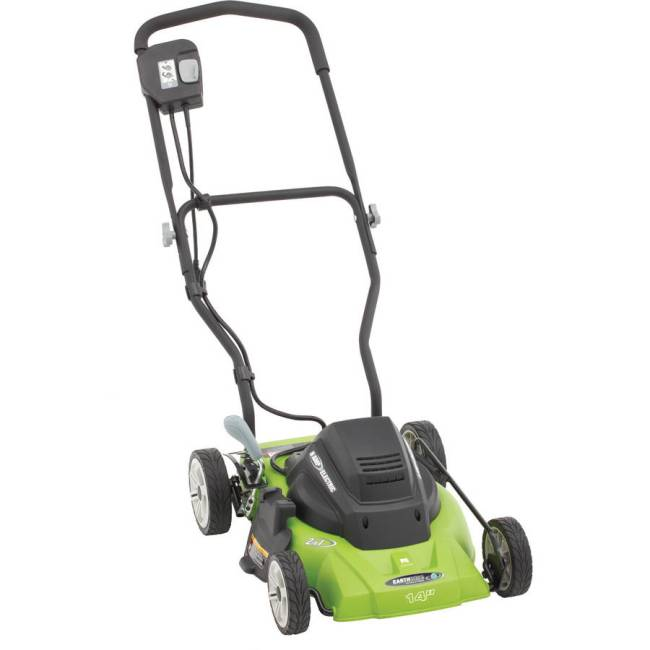 """Earthwise 14"""" 8-Amp Side Discharge/Mulching Corded Electric Lawn Mower"""
