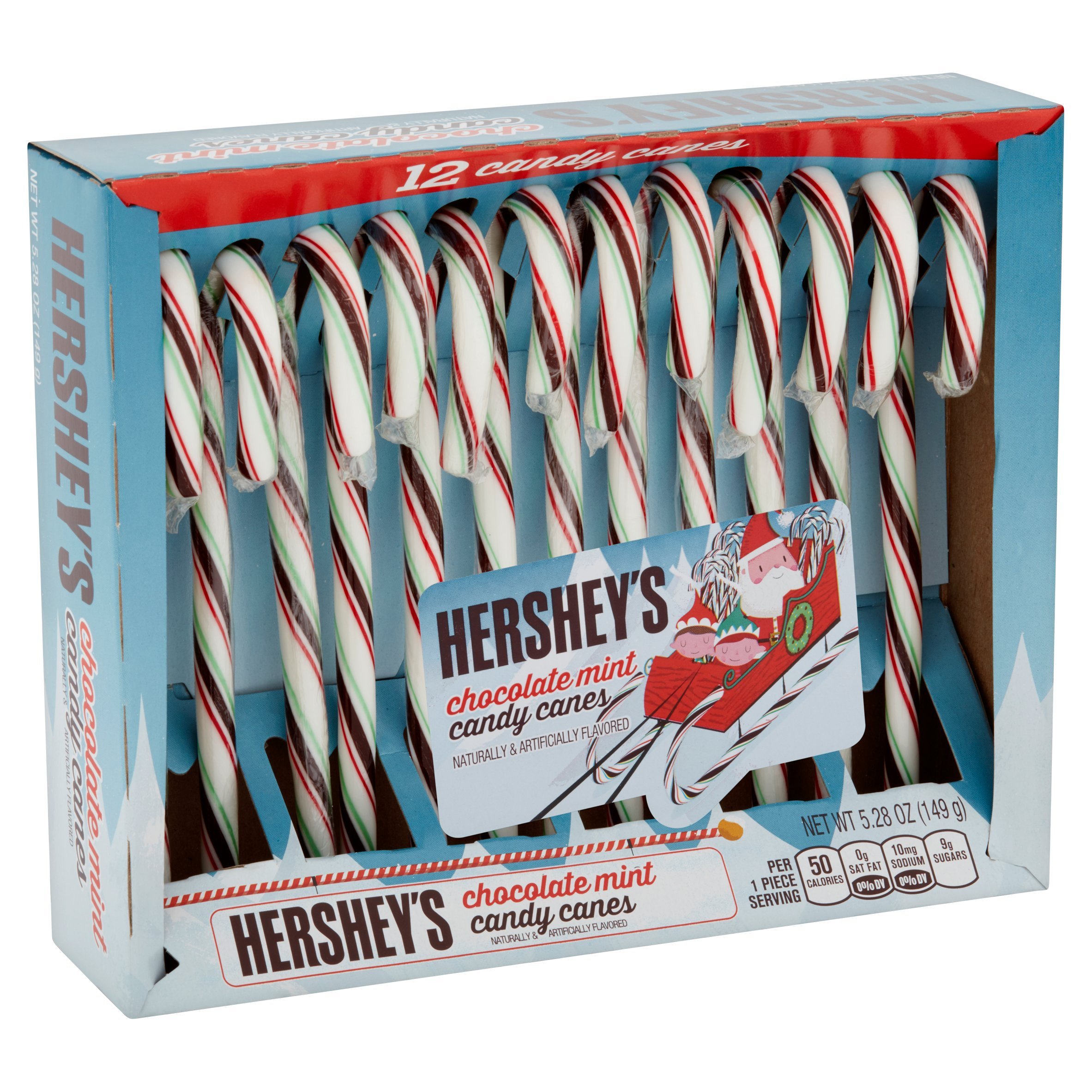 Hershey S Chocolate Mint Candy Canes 5 28 Oz