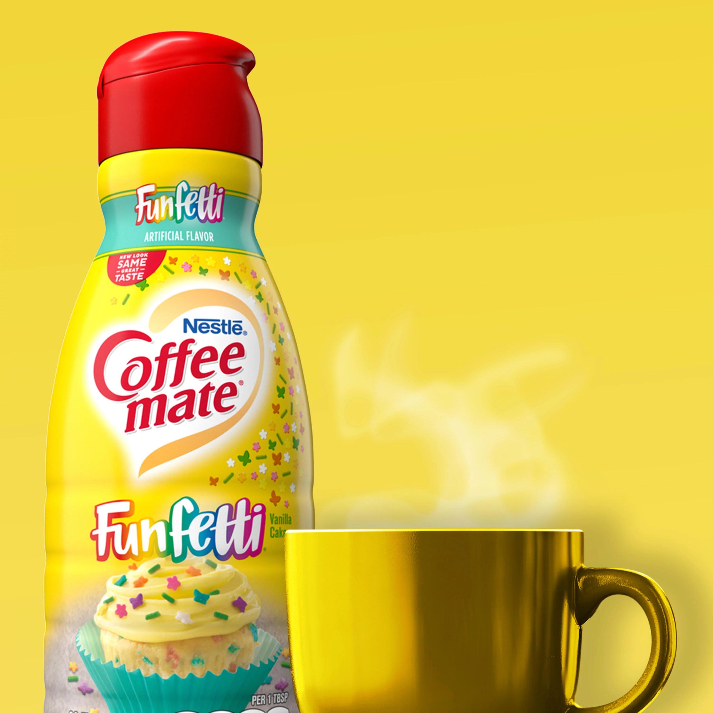Nestle Coffee Mate Funfetti Vanilla Cake Liquid Coffee Creamer 32 Fl Oz Walmart Com Walmart Com