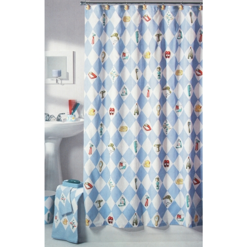 nick nora diamond life cotton shower curtain