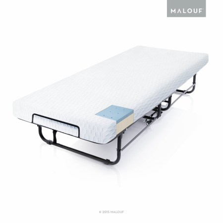 Structures Rollaway Folding Guest Bed With Gel Memory Foam Mattress