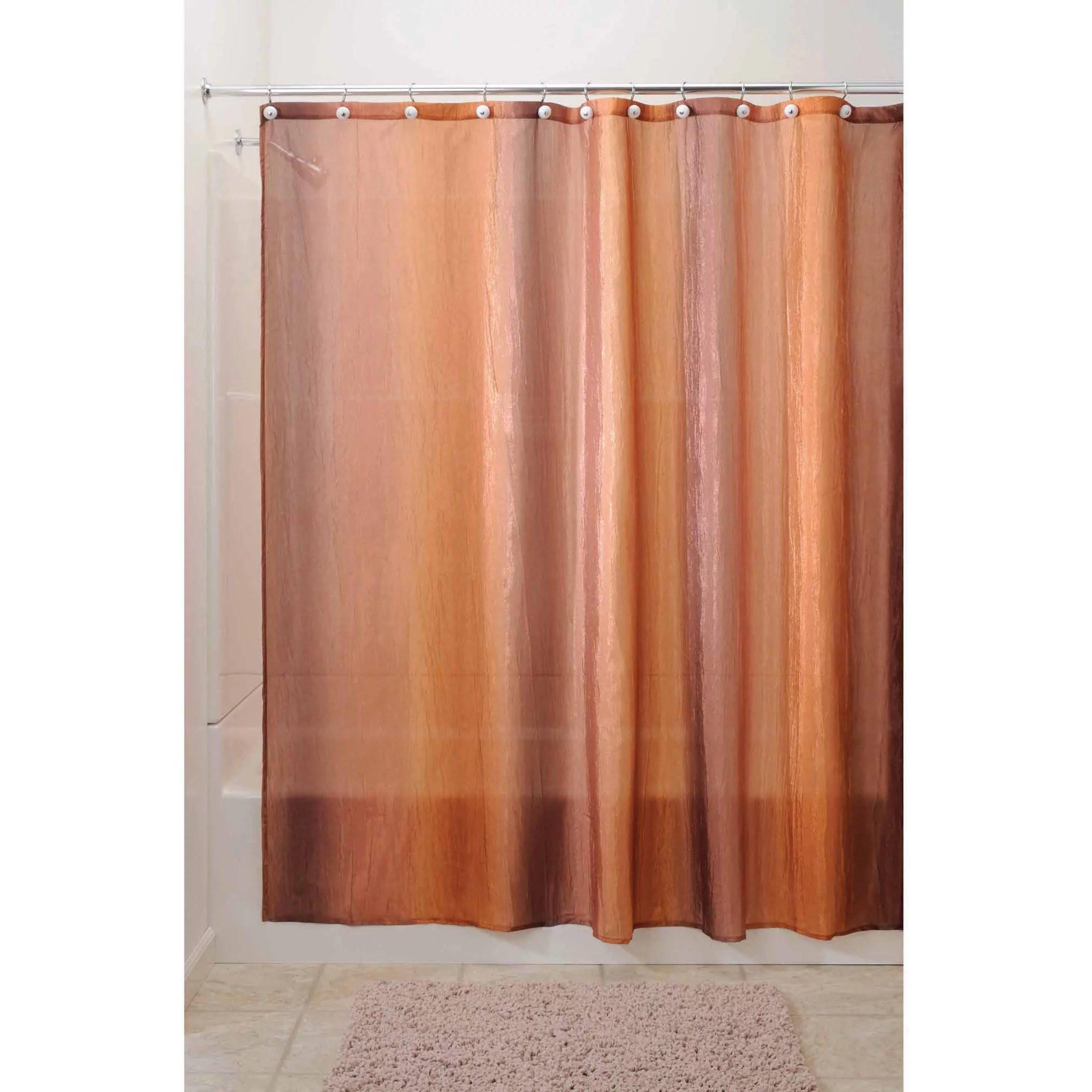 interdesign ombre fabric shower curtain standard 72 x 72 brown gold