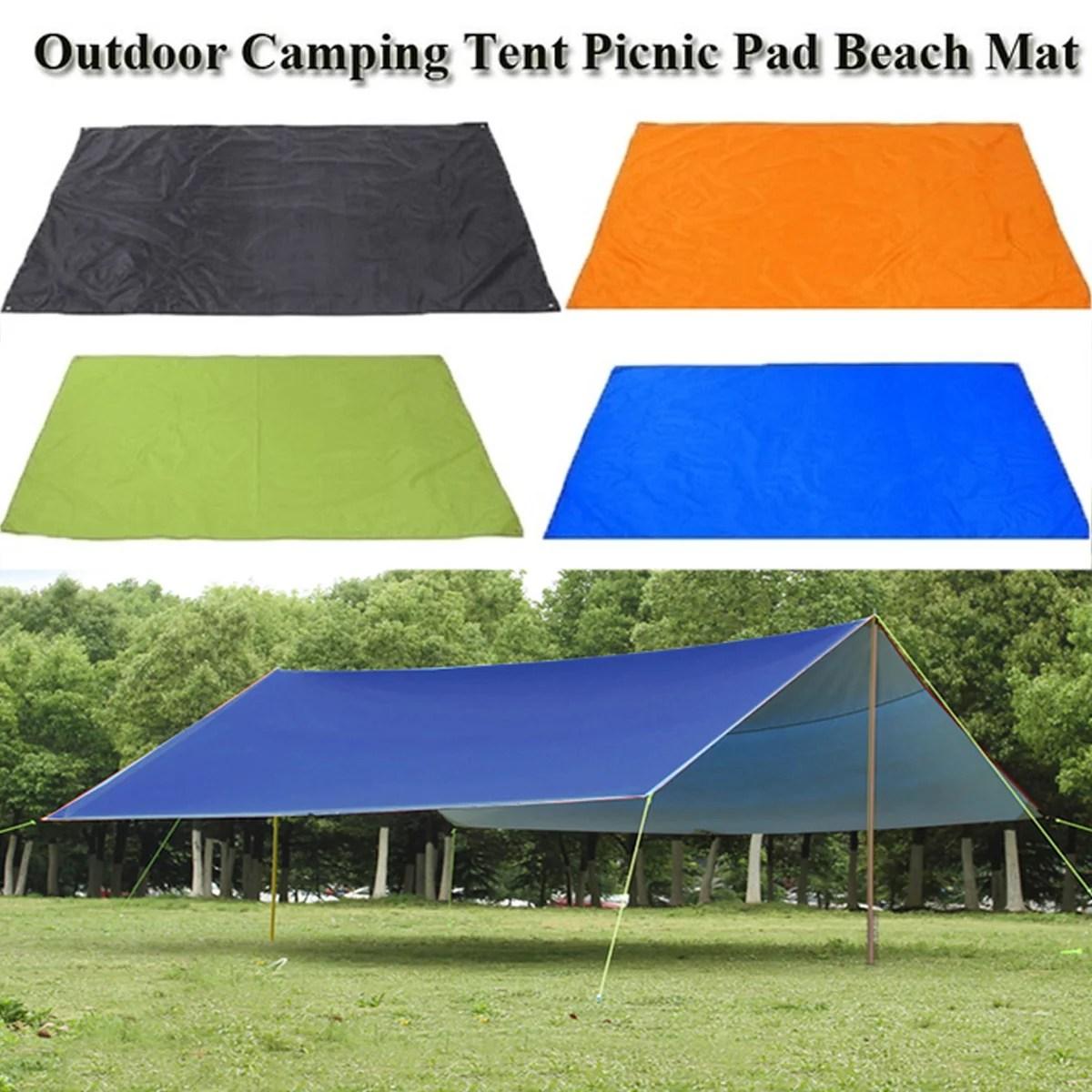 82 7 x59 rain tarp shelter waterproof canopy patio cover tent tarp awning sun shade rain shelter camping mat pad for outdoor walmart com
