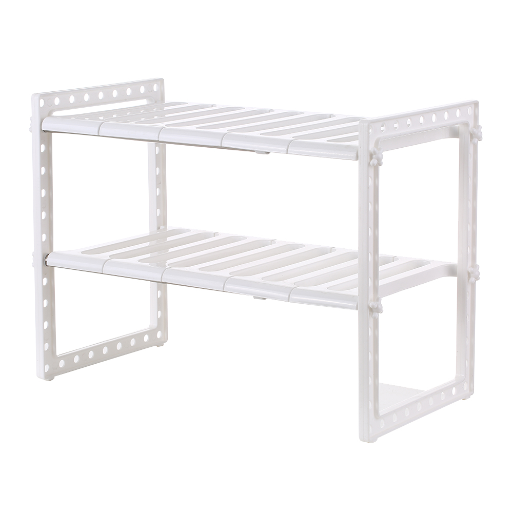multi functional under sink 2 tier expandable shelf storage organizer adjustable stainless steel kitchen sink rack