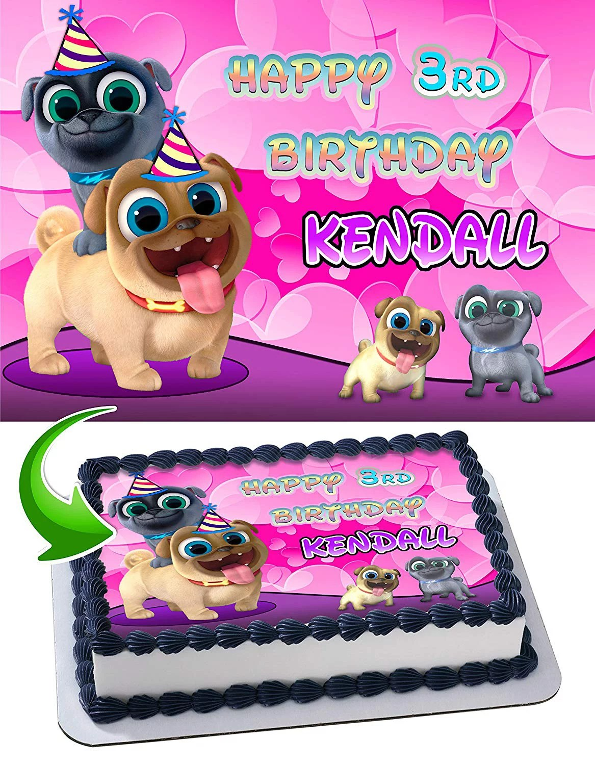 Puppy Dog Pals For Girls Edible Cake Image Topper Personalized Picture 1 4 Sheet 8 X10 5 Walmart Com Walmart Com