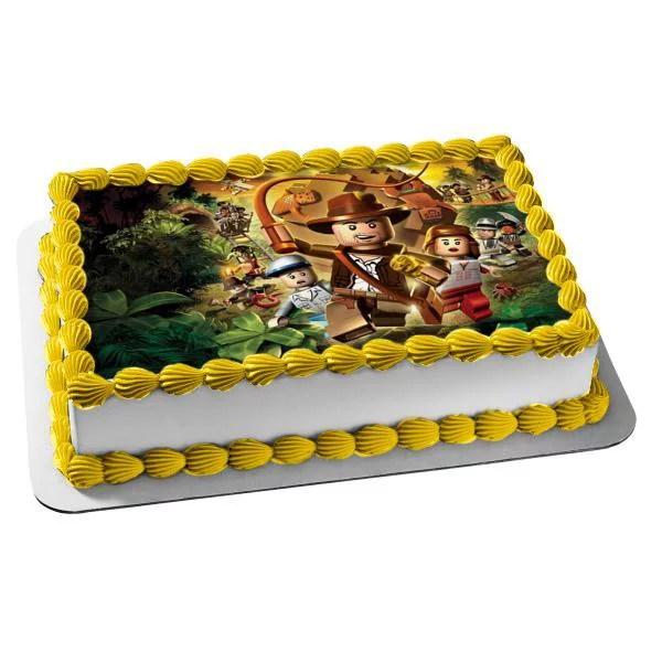 Lego Indiana Jones Raiders Of The Lost Ark Boulder Edible Cake Topper Image Abpid04045 Walmart Com Walmart Com