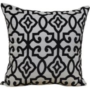 Black And White Gingham Ruffled Throw Pillow