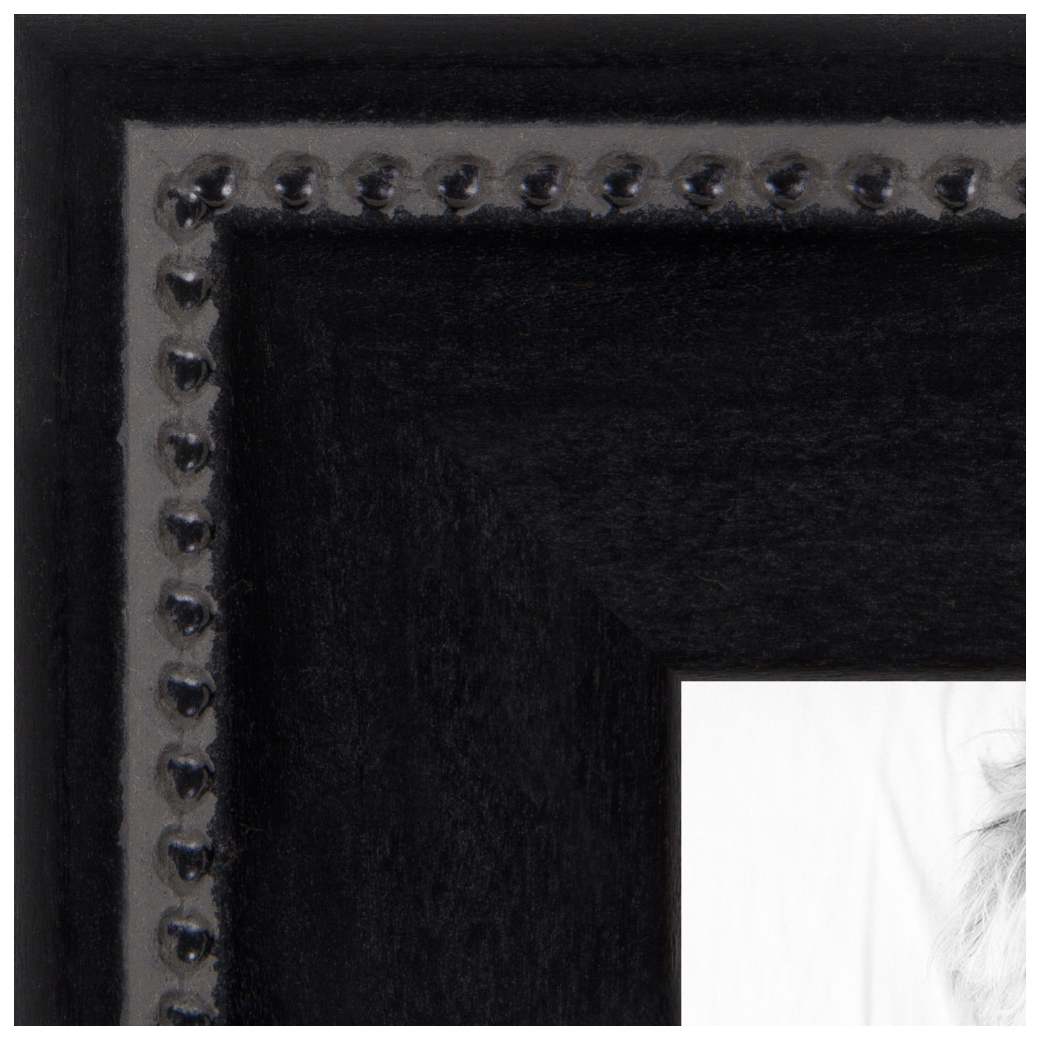 arttoframes 16x20 inch matte black with beads picture frame this black wood poster frame is great for your art or photos comes with styrene 4065