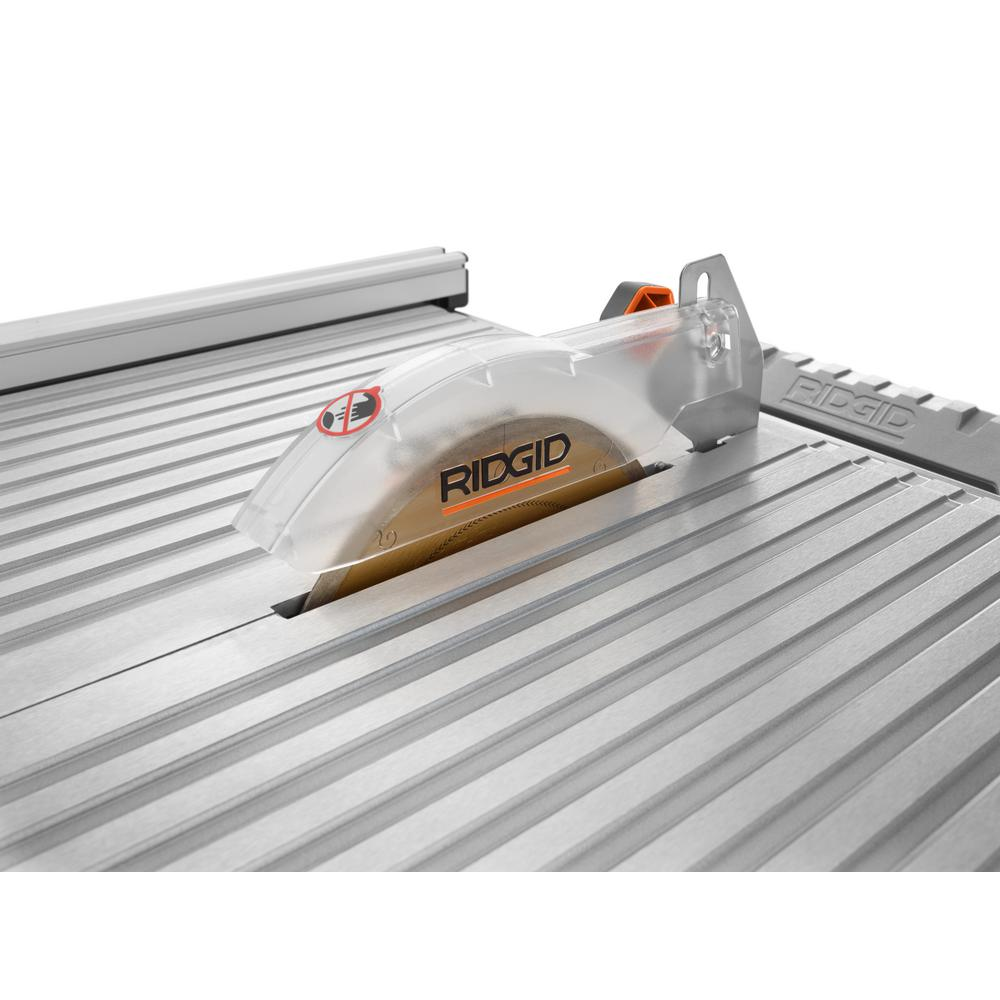 ridgid r4021 120 volt 6 5 amp corded 7 inch self aligning table top wet tile saw new open box
