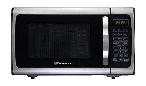 emerson 1 2 cu ft 1100w griller microwave oven with touch control stainless steel mwg9115sb