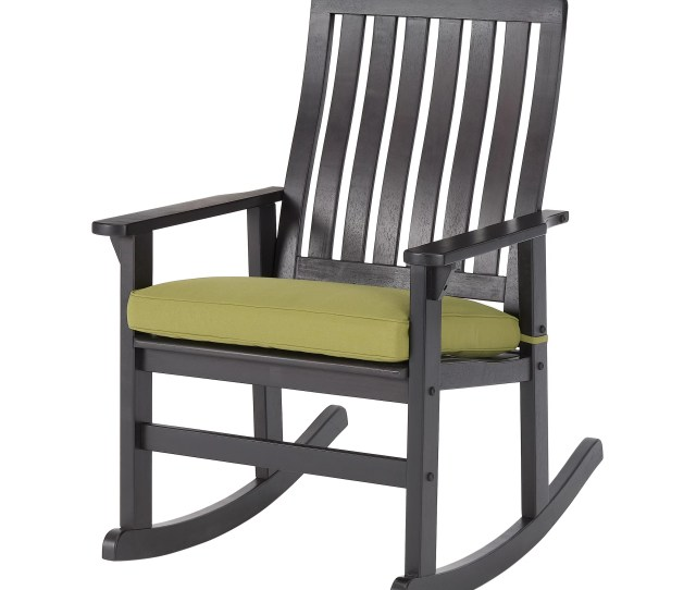 Better Homes Gardens Delahey Cushioned Outdoor Wood Rocking
