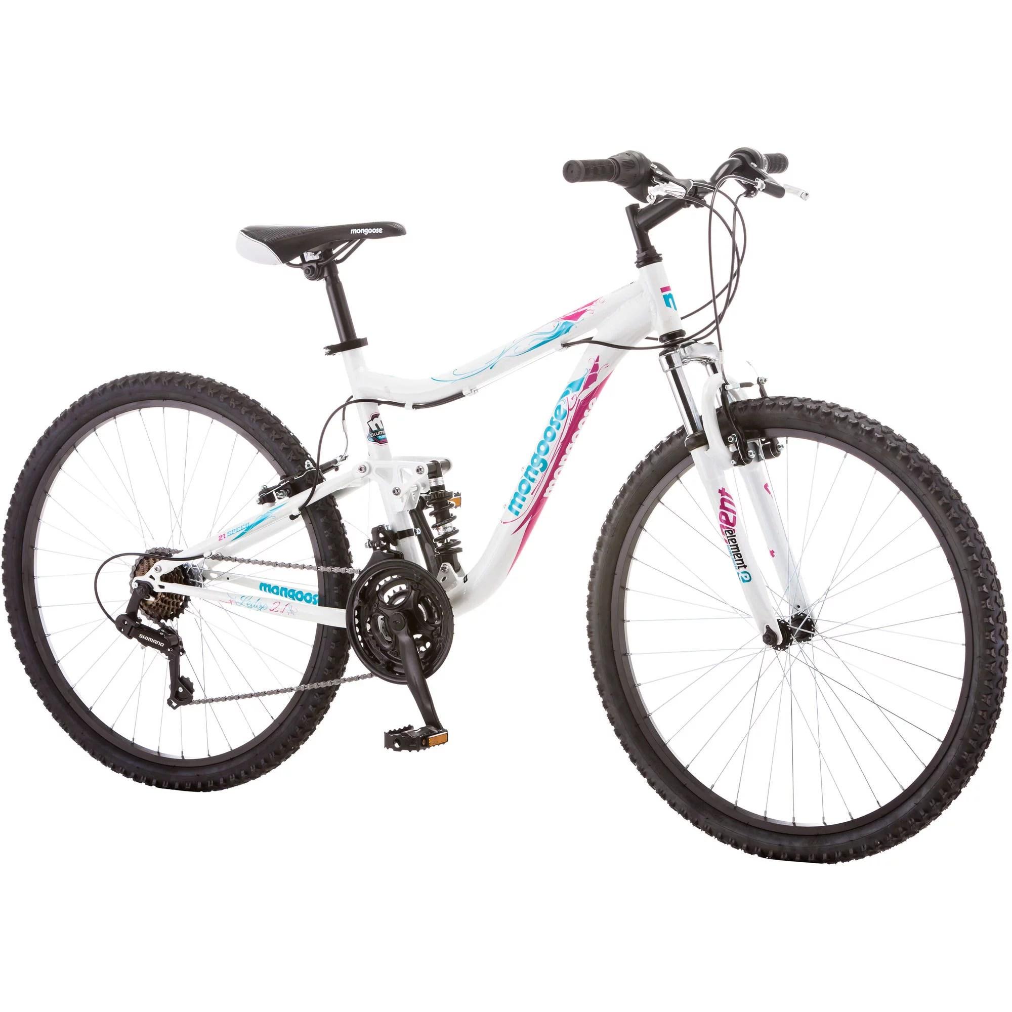 26 Mongoose Ledge 2 1 Women S Mountain Bike White Purple