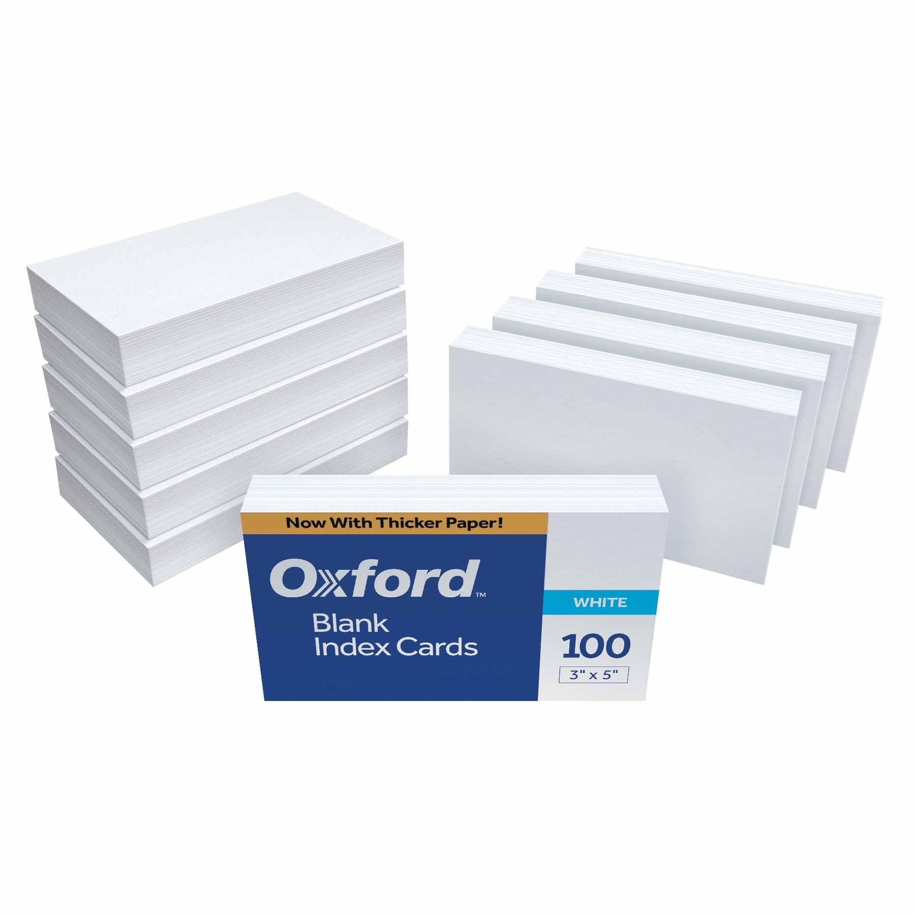 Oxford Blank Index Cards 3 X 5 White 1 000 Cards 10