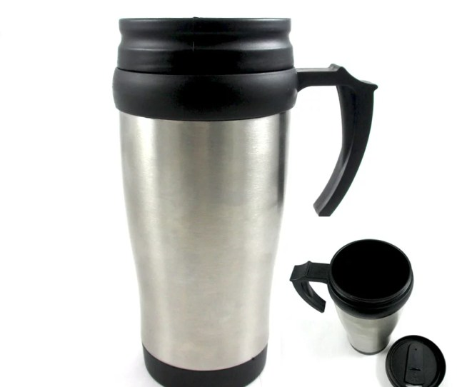 Double Wall Coffee Mug Stainless Steel Insulated Travel  Oz Keep Warm New Walmart Com