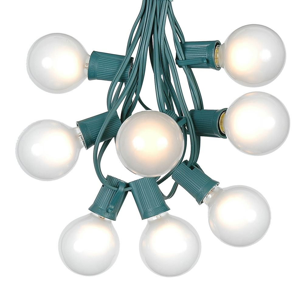 g50 patio string lights with 125 clear globe bulbs indoor outdoor string lights market bistro cafe hanging string lights patio garden umbrella