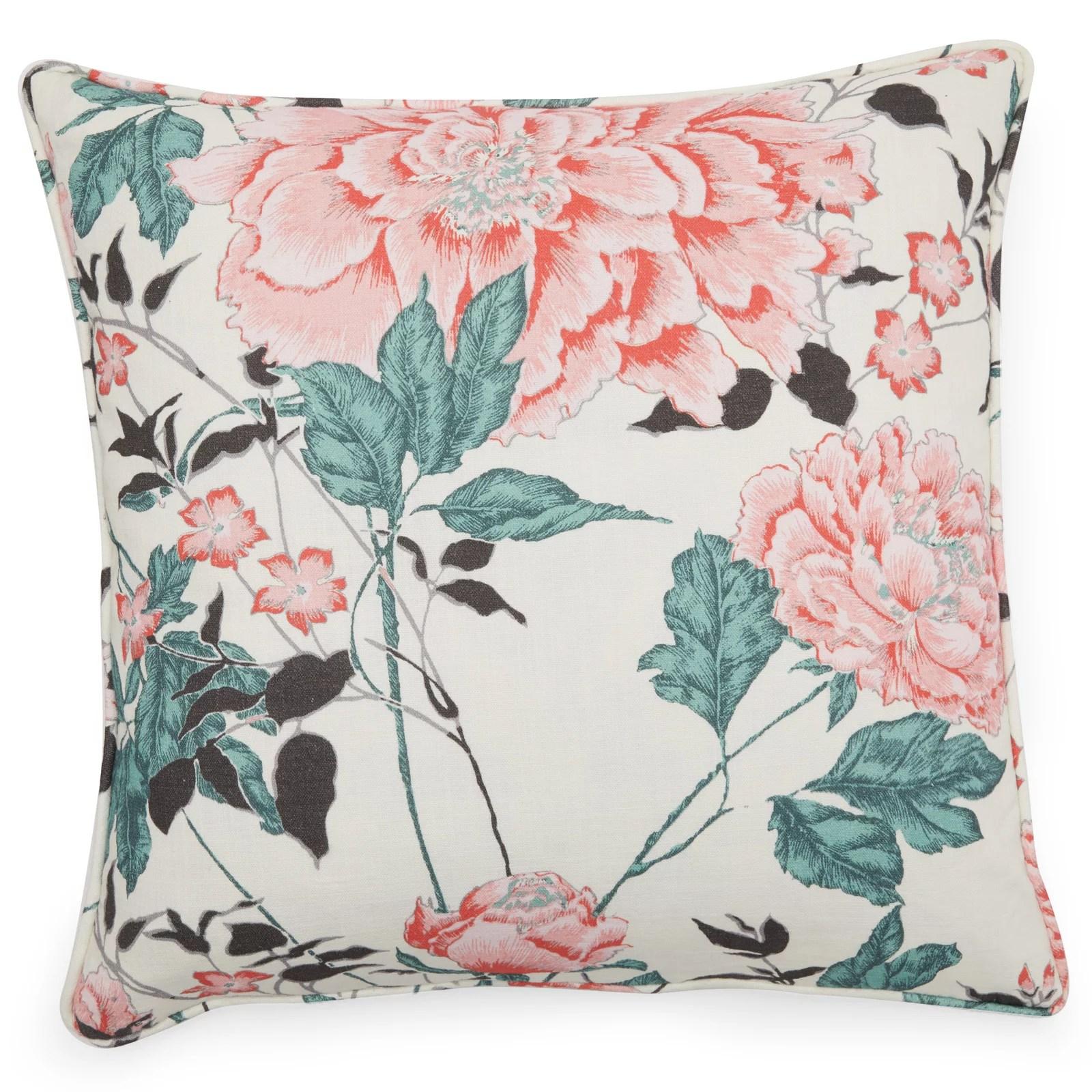 vintage floral decorative pillow cover 20 x 20 by drew barrymore flower home walmart com