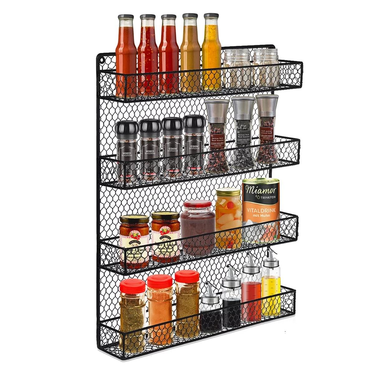 2tier spice rack kitchen organization and countertop storage spice organizer wire rack rustic chicken spice rack spice bottle storage rack jar bottle