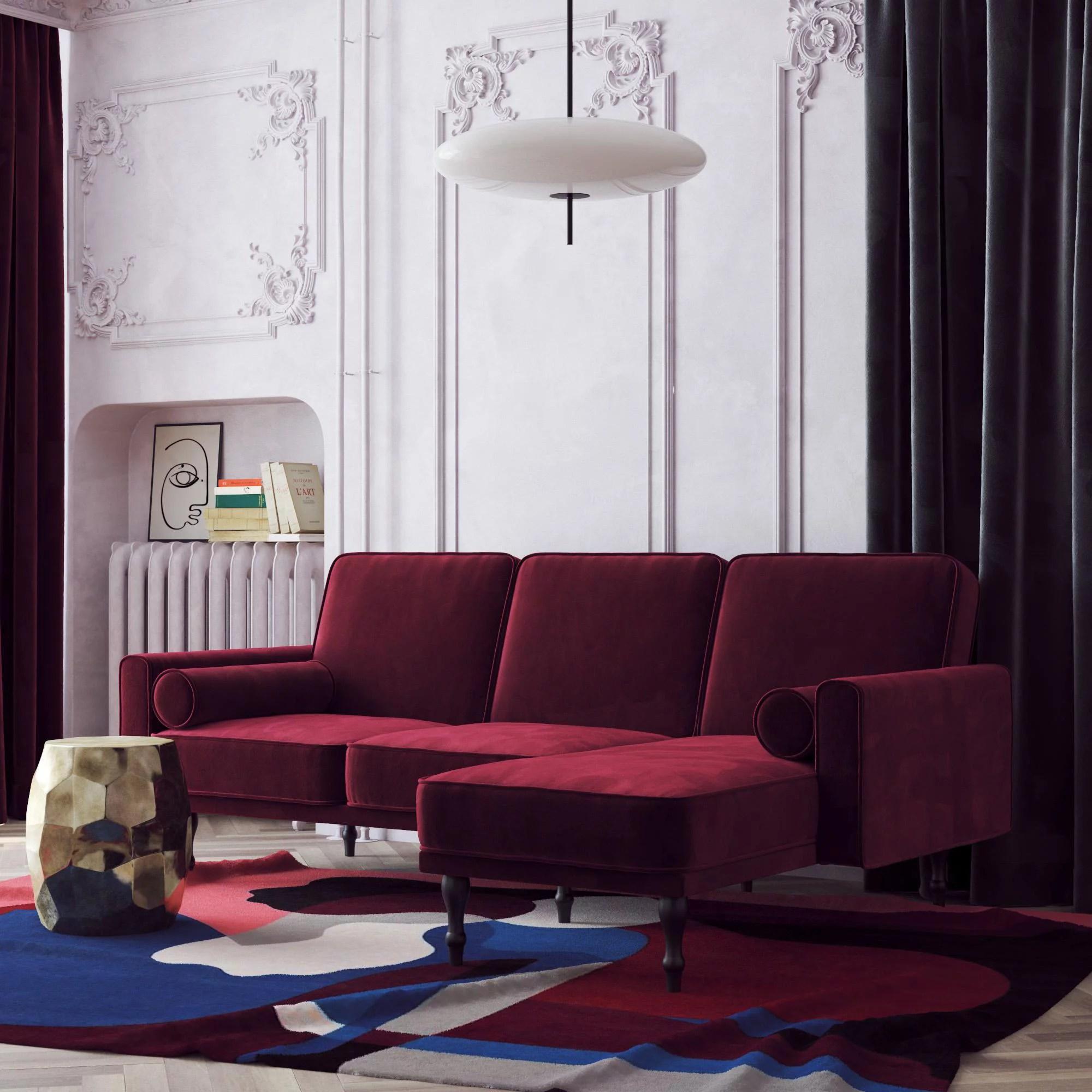 sectional sofas red walmart com